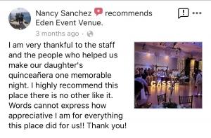 Eden Event Venue Review 1