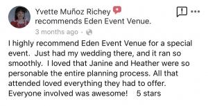 Eden Event Venue Review 4