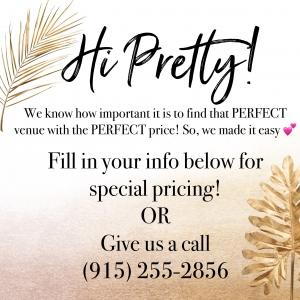 Wedding Venue Packages El Paso Texas