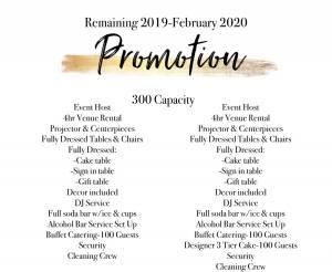 Wedding Venue Promotion No Pricing