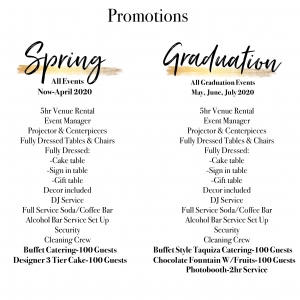 Wedding Venue Spring Promotion No Pricing