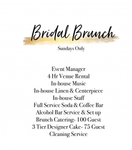 Eden Event Venue Bridal Brunch