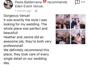 Eden Event Venue Review 2