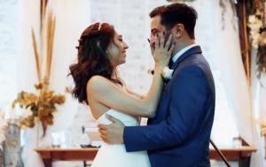 Wife Holding Husband wedding
